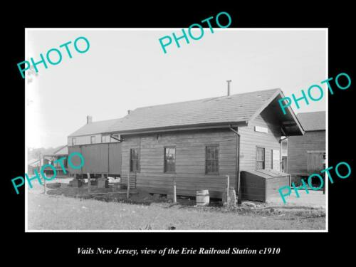 OLD 6 X 4 HISTORIC PHOTO OF VAILS NEW JERSEY, ERIE RAILROAD STATION c1910 2