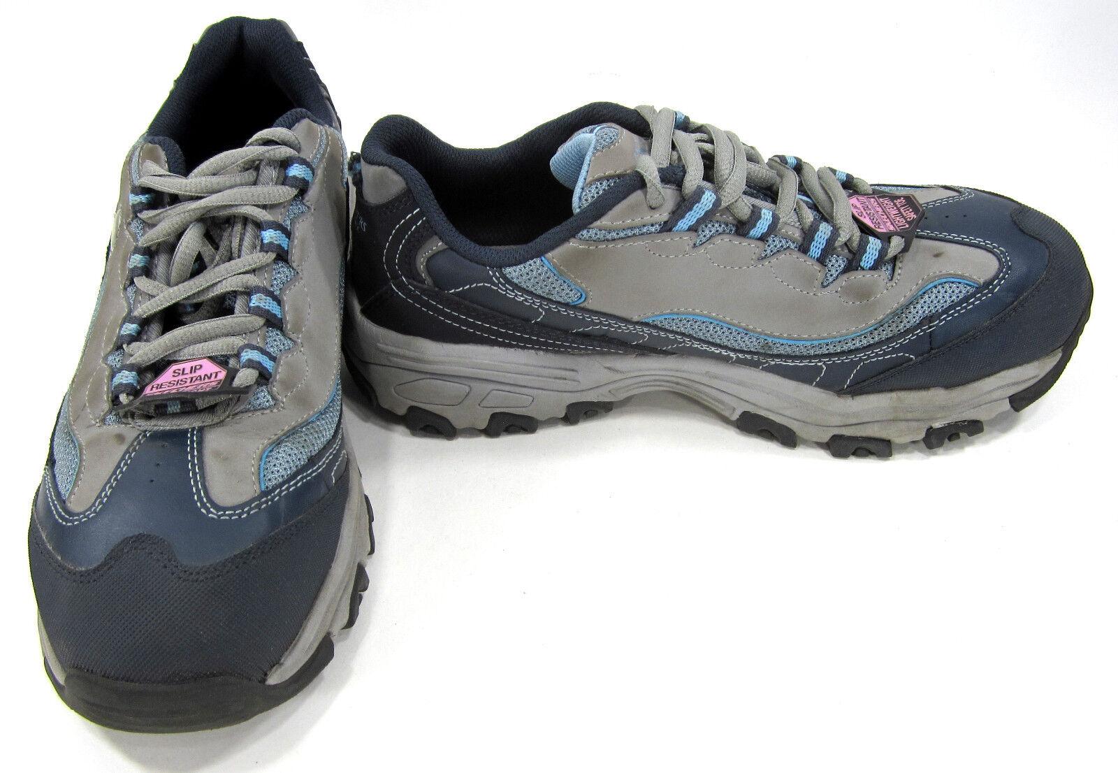 Skechers Zapatos para mujer d'lites Sr Pooler Aleación gris Azul Azul Azul Marino Zapatillas Deportivas Para Mujer 7.5  mejor calidad