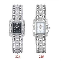 Women's Square Face Stainless Steel Electric Wrist Watch Fashion Sport Metal