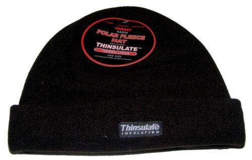 thermique doublure Homme noir polaire bonnet avec thinsulate isolation