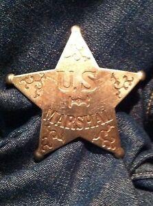 Nice Old West Badge ' U S Marshal'- * western * cowboy * novelty*