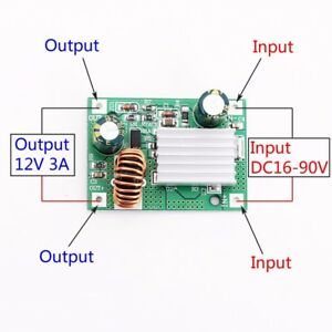 DC-24V-36V-48V-72V-To-12V-3A-Step-Down-Power-Module-Buck-Converter-Non-isolated