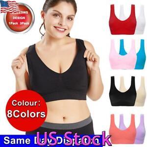 Women Seamless Comfort Shockproof Bra Sports Crop Top Vest Shapewear Stretch 4XL