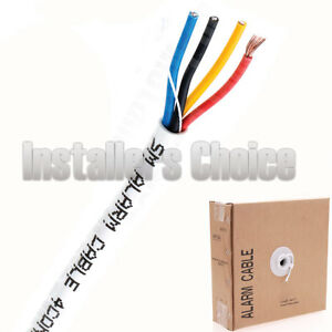 Security-Wire-Burglar-Alarm-22-4-Cable-500FT-Stranded-White-Speaker-Cable