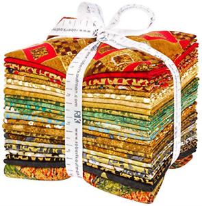 Gustav-Klimt-22-Fat-Quarter-Bundle-Plus-Panel-by-Robert-Kaufman-Fabrics