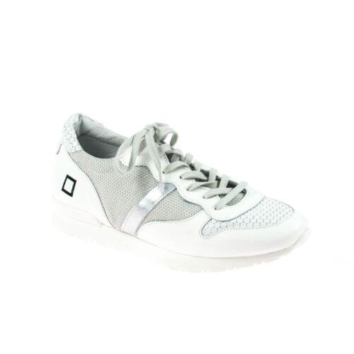 Date Sneaker Ladies pelle bianca in C7naqwrx75