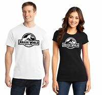 Jurassic World Park Men's Ladies T Shirt New Movie Fans Chris Pratt T Rex XS-4XL