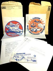 RARE-1970-039-s-REVELL-Master-Modeler-LOT-IRON-ON-coupon-book-hotrod-car-dragster