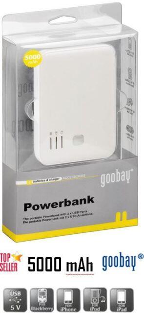 USB Powerbank Not Lithium Accu externer Akku Ladegerät portable Powerbank 5 Ah