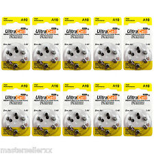 1 Box of (60 Batteries) Hearing Aid Zinc Air Batteries A10 Size: 10 Ultracell