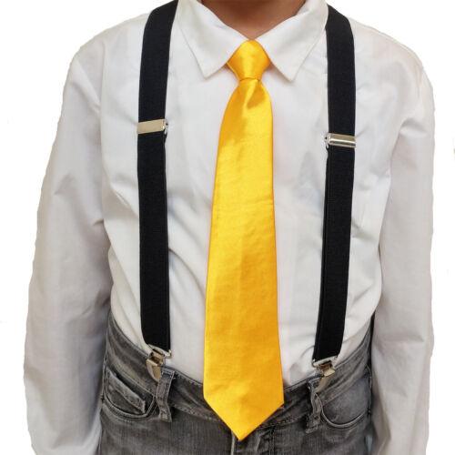KIDS SUSPENDER NECKTIE Costume COMBO CHILDREN/'S SUSPENDERS and TIE Sets