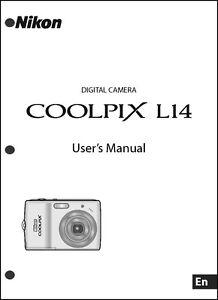 nikon coolpix l14 digital camera user guide instruction manual ebay rh ebay com Nikon Coolpix S6100 Digital Camera Manual User Manual Nikon Coolpix L20