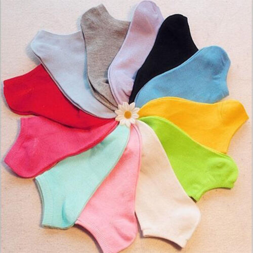 Hot Fashion Candy Color Women Short Ankle Boat Cut Sport Socks Crew Casual