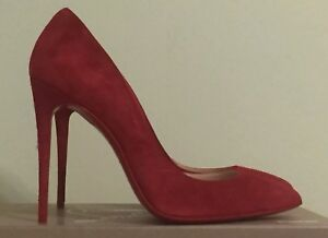 91c5faa0d5a Image is loading AUTHENTIC-CHRISTIAN-LOUBOUTIN-PIGALLE -FOLLIES-RED-ORANGE-HEEL-