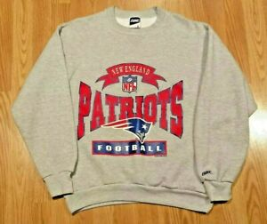 super popular 8ffad c5cf2 Details about Vintage New England Patriots Bike Football Crewneck  Sweatshirt Gray Large NFL