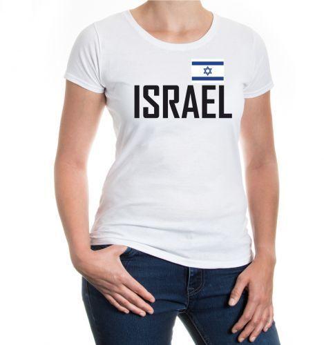 Damen Kurzarm Girlie T-Shirt Israel Nahost Asien Reise travel Flagge flag asia