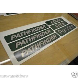 PENNINE Pathfinder Folding Trailer Caravan Stickers Decals - Graphics for caravanscaravan stickers ebay