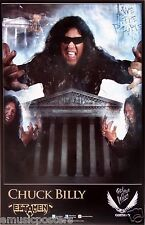 "TESTAMENT ""CHUCK BILLY"" U.S. PROMO POSTER - Collage Of Chuck With Hands Up"