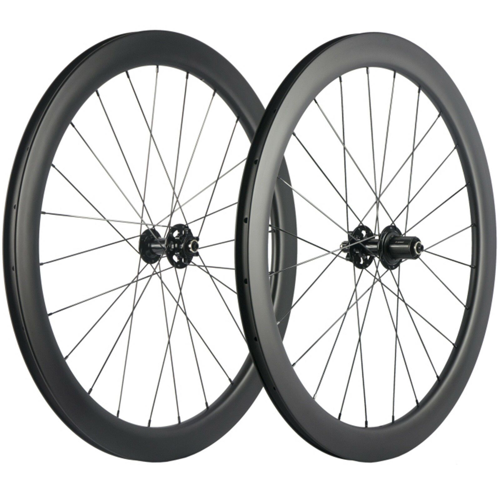 Carbon Disc Brake Wheelset Road Bike 700C 50mm Clincher Carbon Wheels 6 Bolts