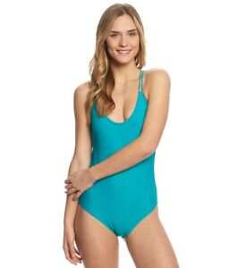 475905ab51a5f Volcom Women's Simply Solid One Piece Swimsuit, Teal, L and XL | eBay