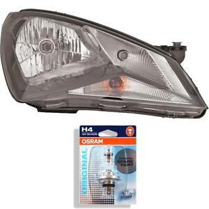 Scheinwerfer-rechts-fuer-Seat-Mii-Bj-11-gt-gt-schwarz-H4-inkl-OSRAM-Lampen