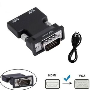 1080P-HDMI-Female-to-VGA-Male-with-Audio-Output-Cable-Converter-Adapter-Lead-UK