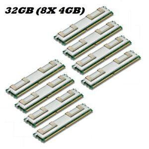 En Herbe 8x 4gb 32gb De Ram Pour Dell Poweredge M600 Fb Dimm Ddr2 De Mémoire Fully Buffered-afficher Le Titre D'origine éLéGant En Odeur