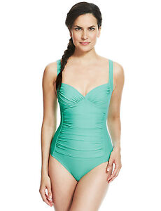 2a8d02603019b BNWT M S Spearmint Secret Slimming Swimsuit Swimming Costume Size 10 ...