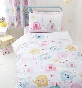 Catherine-Lansfield-Elephants-On-Parade-Duvet-Quilt-Cover-Set-Kids-Bedding
