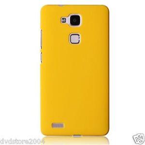 Custodia-BACK-GIALLA-Cover-Case-Rigida-Hard-Mat-Plastica-Matte-per-Huawei-G8