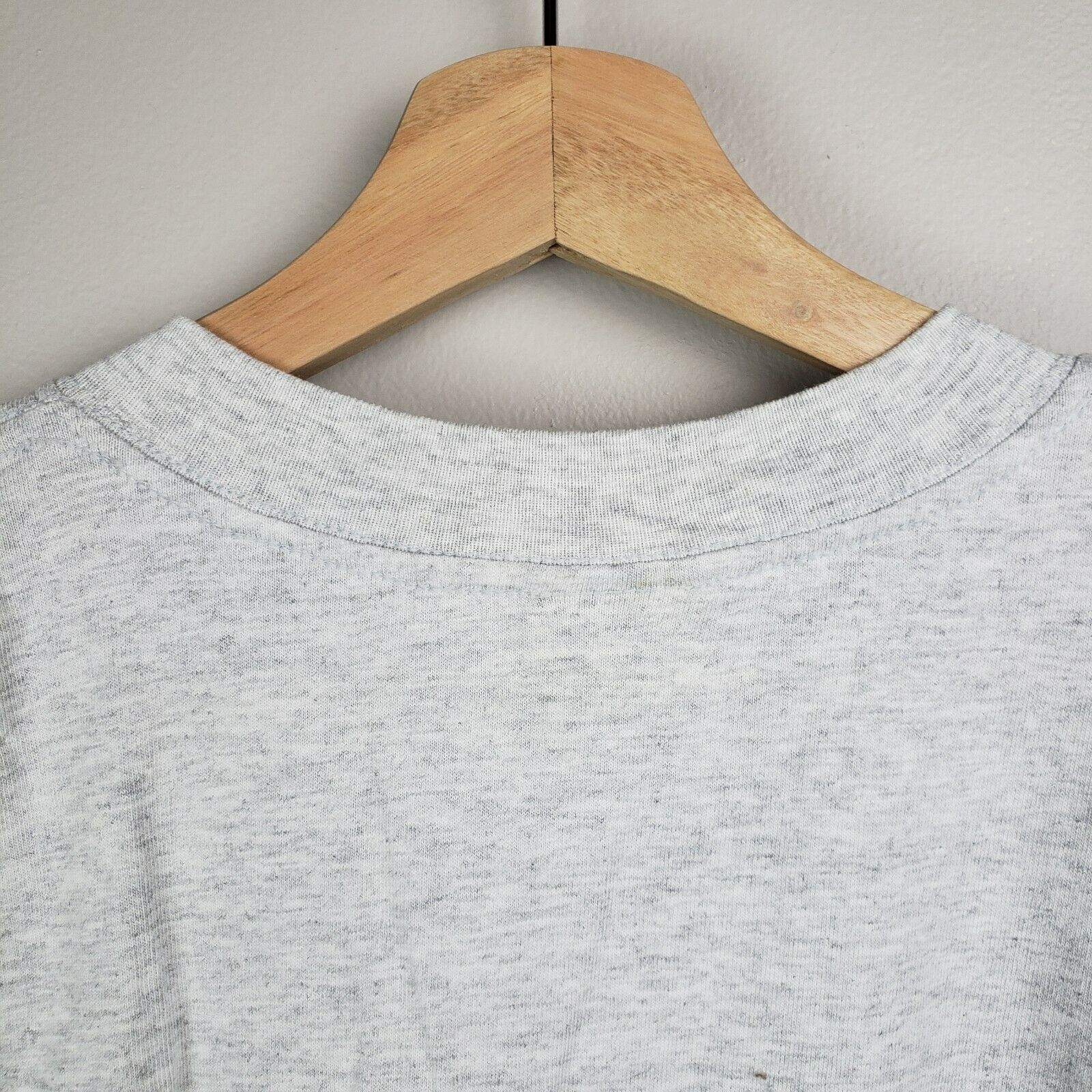Vintage 80s 90s Labrador Retriever Embroidered Dog Grey T Shirt Size L