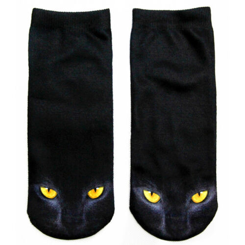 3D Fashion Print Animal Socks Women Casual Socks Unisex Cute Cat Low Ankle Socks