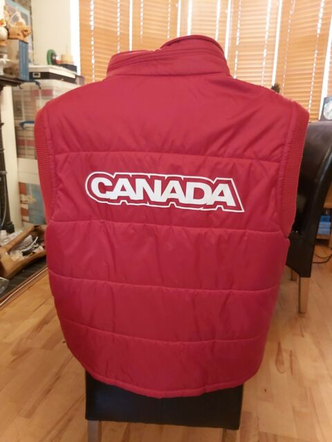 Unisex HBC rot Gilet Körper Wärmer Turin 2006 Kanada Kanadische Olympia Team Large