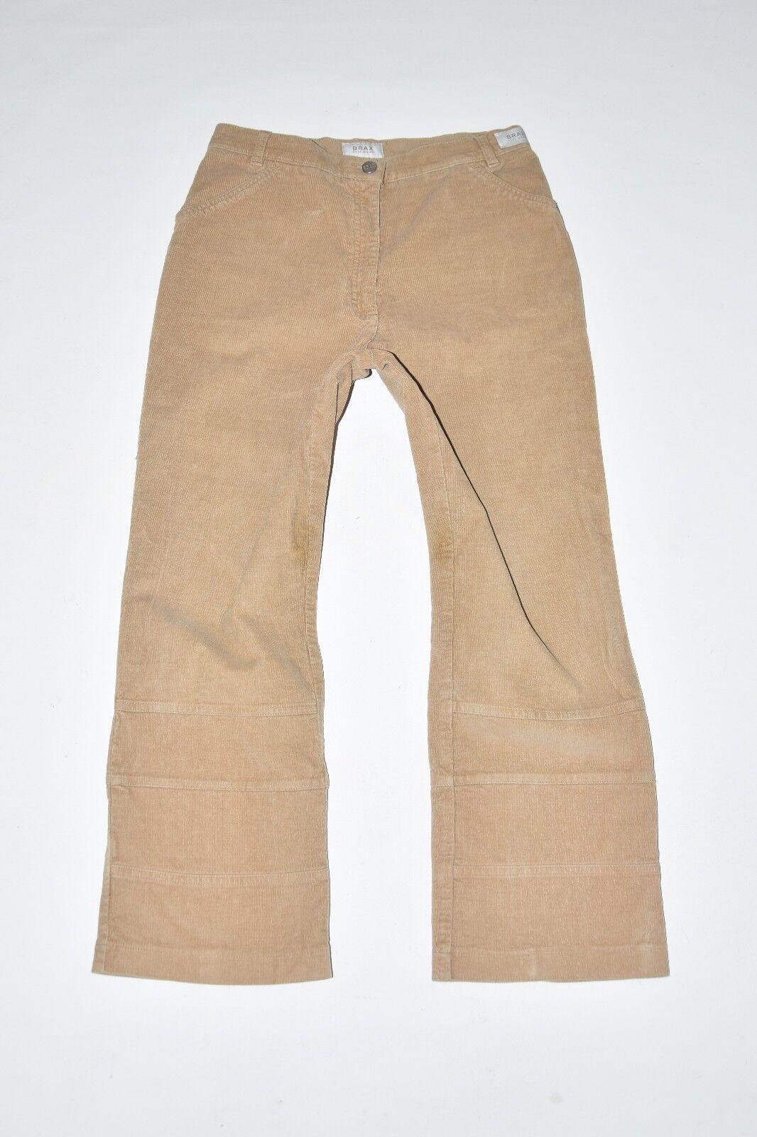 Brown Corduroy BRAX Straight Leg Stretch Women's Pants Trousers Size W30  L25