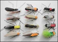 12 Schiuma Bug Pesca Mosche, Taglia 8, per pesca a mosca, schiuma mosche, Trota li amano