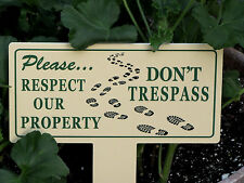 No Trespassing Sign | Private Property Signs | No Tresspassing | Keep Off Grass