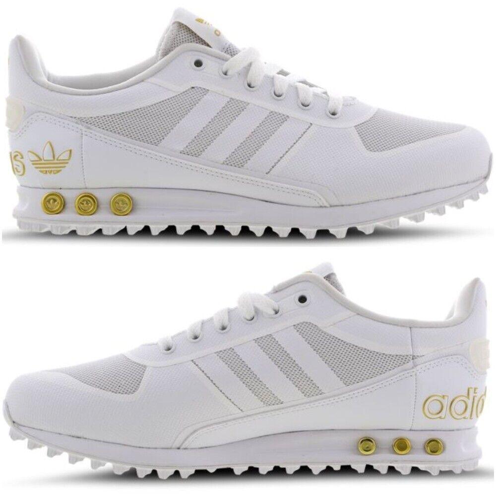 Adidas Originals Trainer Bianco Bianco Bianco II LA oro Smart Casual scarpe Trainer da uomo uk 7-10 b8a078