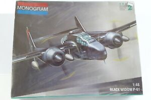 Northrop-P-61-Black-Widow-US-Jet-Night-Fighter-Monogram-1-48-Kit-SEALED-7546