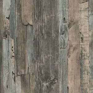 french provincial rustic timber wood effect wallpaper in