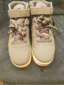 fila original mens brown leather casual high top sneakers