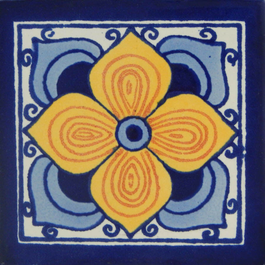 100 Mexican Talavera Decorative Handmade Tiles Folk Art C115