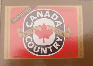 VINTAGE-CANADIAN-BEER-LABEL-CANADA-COUNTRY-BREWERY-IMPORTED-LAGER-341ML