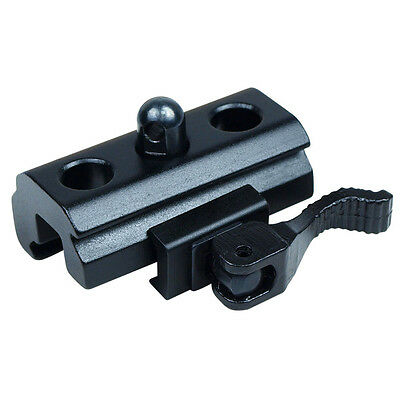 QR Harris Style Bipod Adapter to Weaver and Picatinny Rail Quick Release - Black