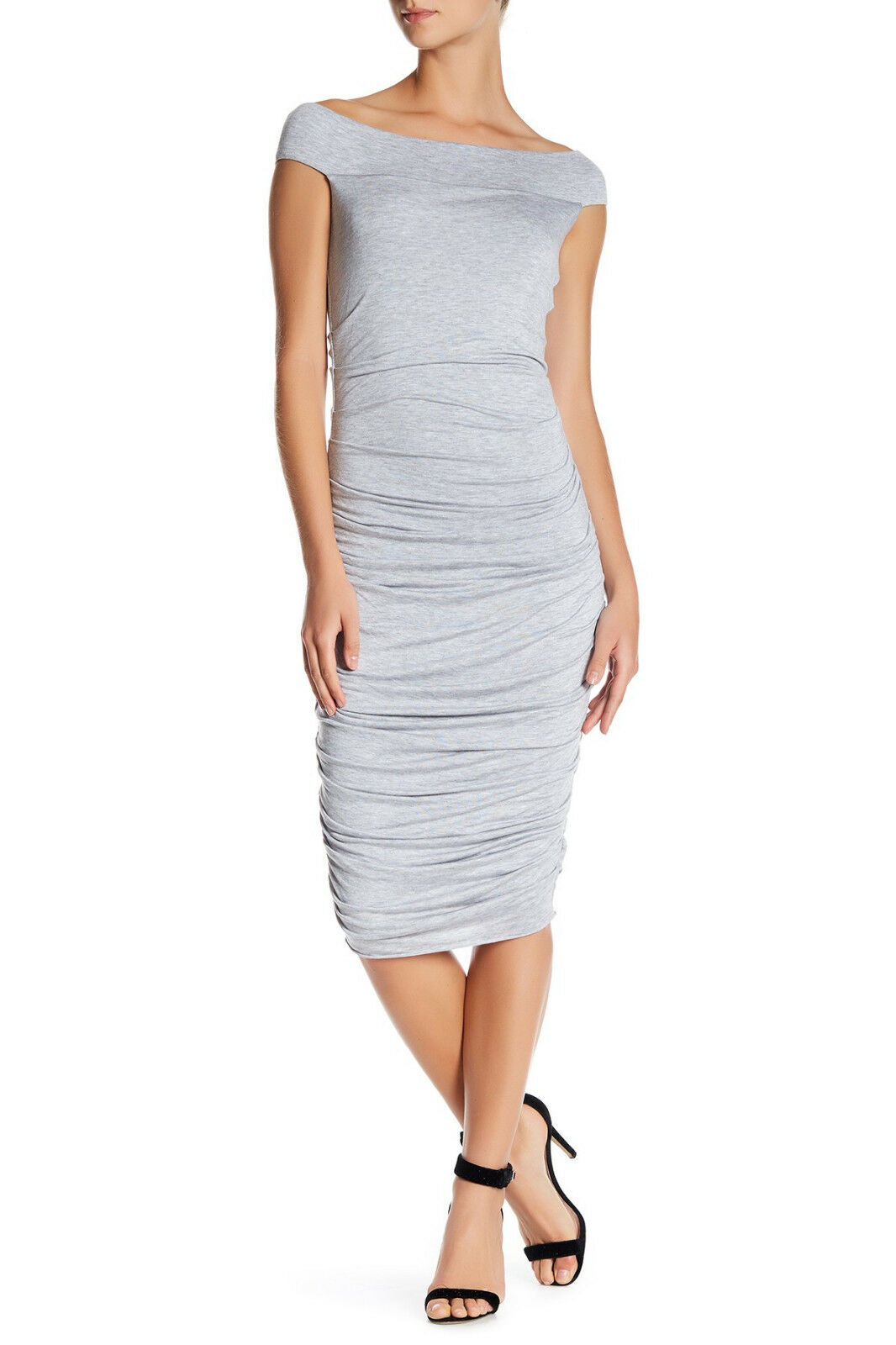 Bailey 44 Off-the-Shoulder Ruched Dress grau S MSRP