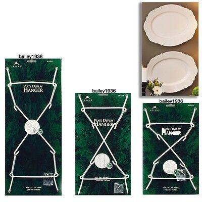 Deluxe Lrg White Plate Hangers Heavy Duty Platters Tiles Choice Of 3 Sizes Ebay