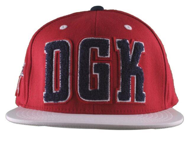 DGK Dirty Ghetto Kids Mens Red White Navy Graduate Snapback Baseball Hat NWT 1a5e427ce6e