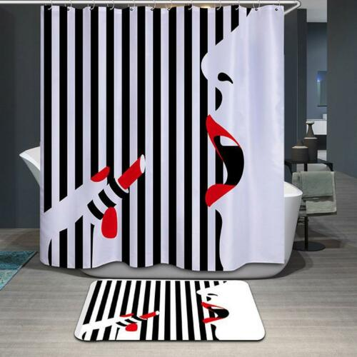 Duschvorhang Duschrollo Dusche Textil Badewannenvorhang Stoffdruck 180x180cm