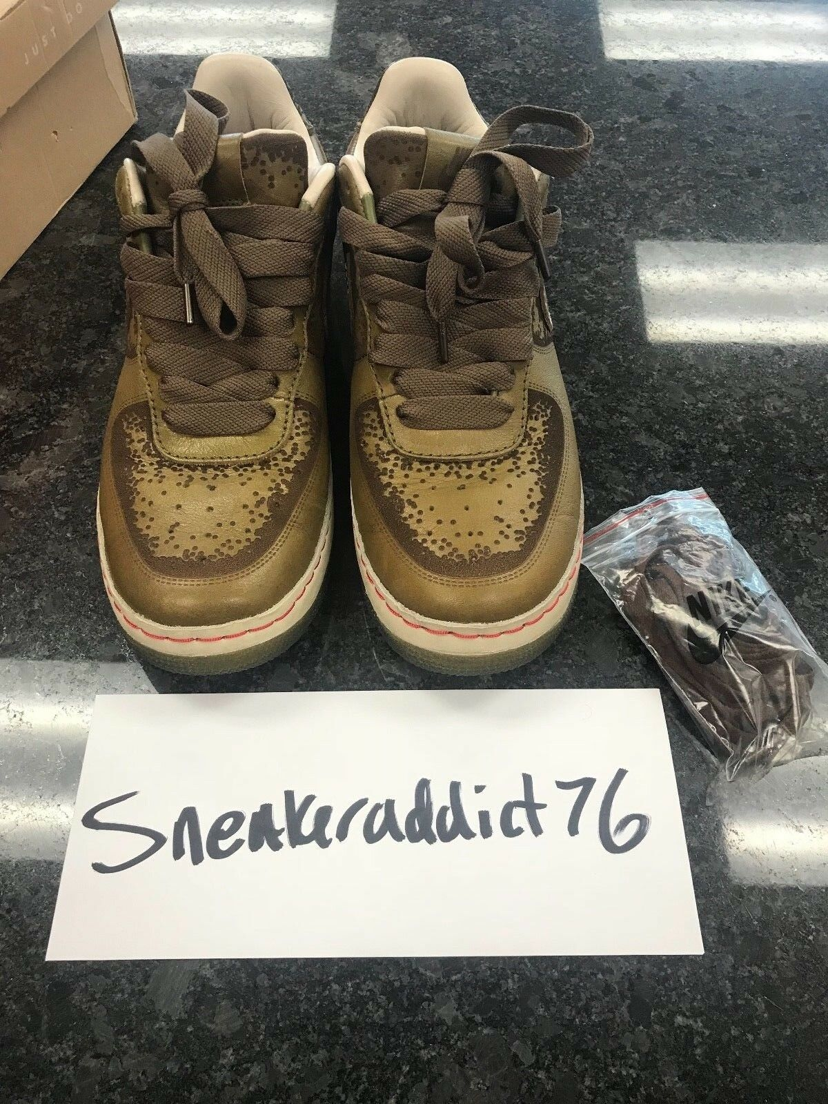 Nike Air Force I 1 Low One Piece Pilgrim/Palomino Inside Out 312491-331 SZ 10.5