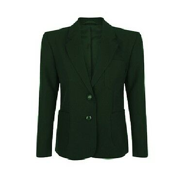 CLEARANCE Girls School Badgeable Blazer Green CLEARANCE * LIMITED AVAILABILITY *