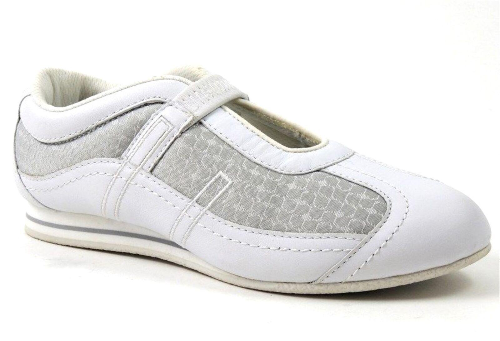 Easy Spirit Women's Optimum Sneakers Leather White Grey Size 6 M